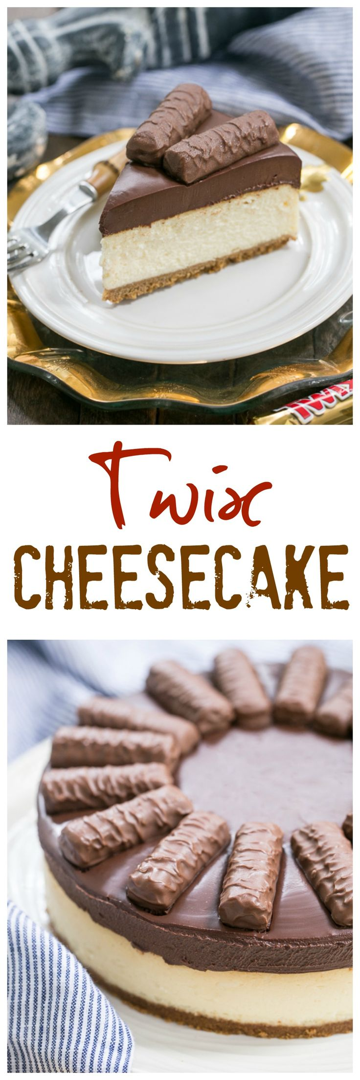 Twix Cheesecake | A dream cheesecake for chocolate and caramel lovers! @lizzydo
