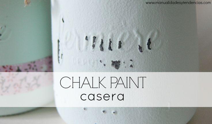Cómo hacer chalk paint casera www.manualidadesytendencias.com #chalkpaint #manualidades #pintura #diy