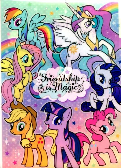 My Little Pony 3 Pocket Document File $3.99 http://thingsfromjapan.net/little-pony-3-pocket-document-file/ #my little pony stuff #kawaii folder #cute Japanese stationary