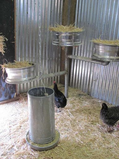 Chicken Coop Tour! this is too awesome!  love the tire rims for hen nests! clean and efficient!