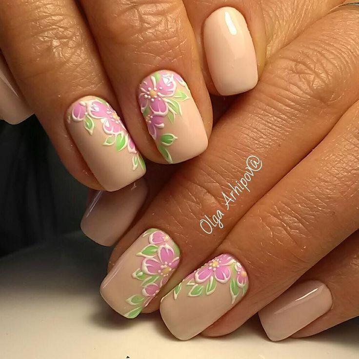 69 вподобань, 0 коментарів – Ольга Архипова (маникюр) (@arhiola2011) в - 25+ Beautiful Peach Colored Nails Ideas On Pinterest Peach Nails