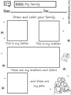 Ficha para reforzar el aprendizaje de los miembros de la familia ...