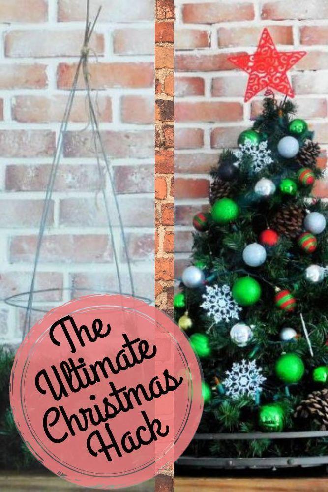 Tomato Cage Christmas Tree Useful Diy Life Hacks