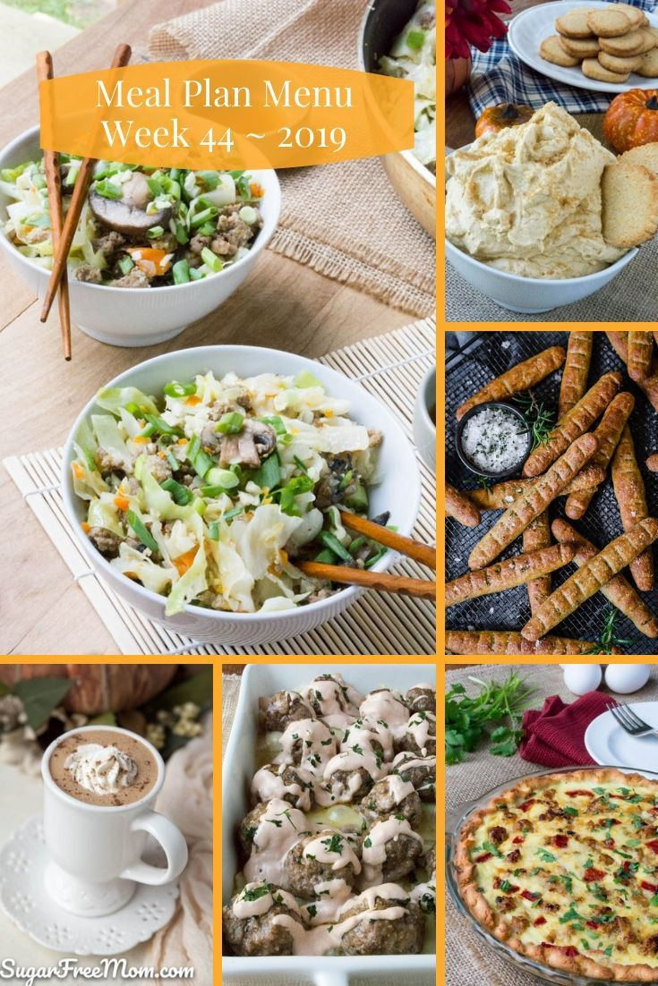 Low Carb Keto Meal Plan Menu Week 44