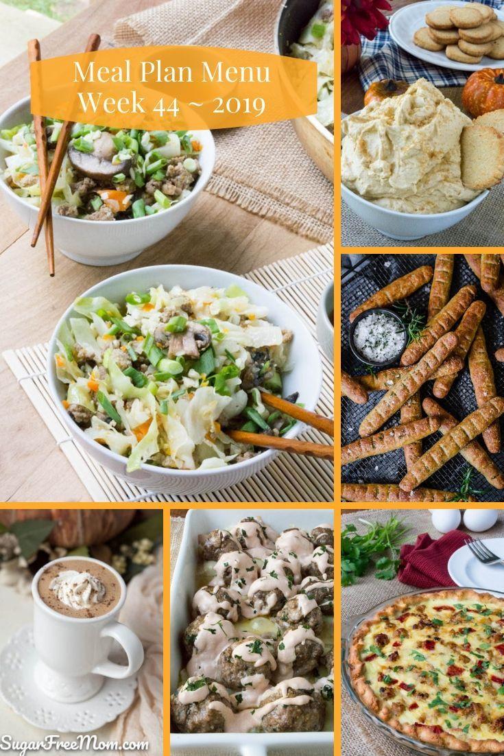 Low Carb Keto Meal Plan Menu Week 44