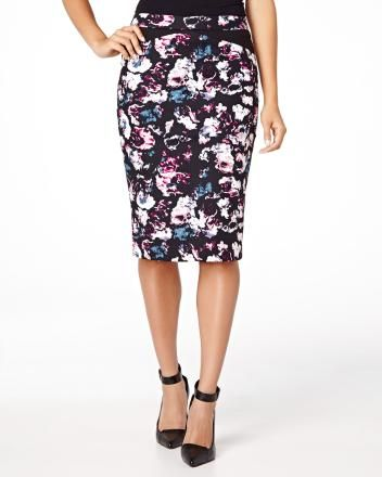 Flower print pencil skirt  Fall 2014 RW&CO.