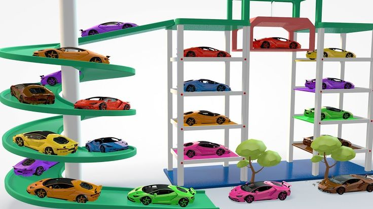 Colors Learn for Children with Street Vehicles | Car Parking Toys For Kids