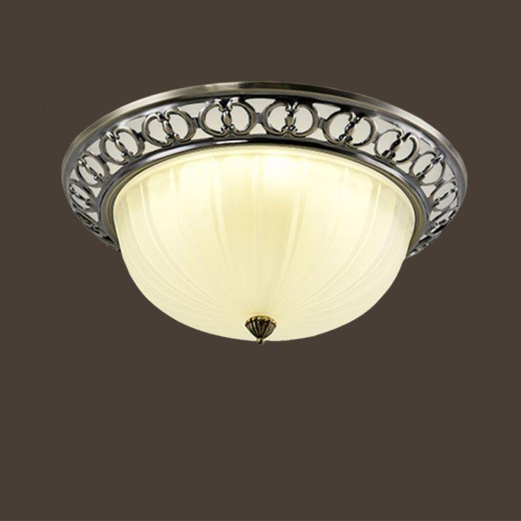68.43$  Buy here - HGHomeart 110V/220V E27 LED Retro Ceiling Light  Bedroom Iron Lamp Simple Modern Atmosphere Living Room Aisle Balcony Lighting  #aliexpressideas