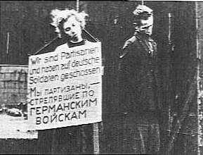 Masha Bruskina was a Russian teenage female partisan. She was a 17 year old Jewish high school graduate and was the first teenage girl to be publicly hanged by the Nazis in Belorussia (Belarus), since the German invasion of Soviet Union on the 22nd of June 1941. Her execution and that of the two men hanged with her took place on the 26th of October 1941 in the city of Minsk. In the photos of her, you will see that she has blond hair, but her natural colour was dark.