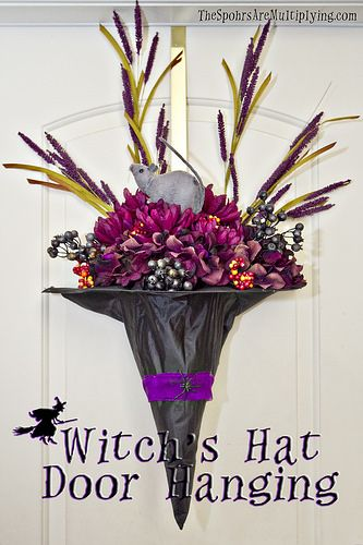 Witch's Hat Door Hanging | by The Spohrs Are Multiplying...