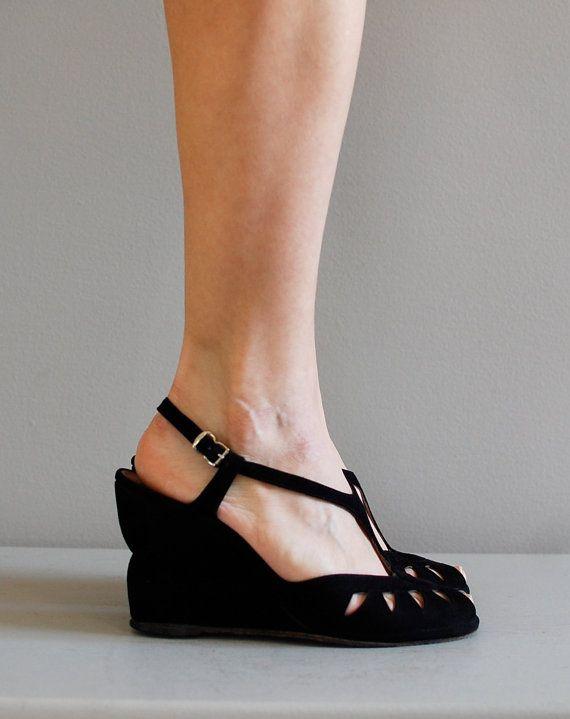 oh my!: T Strap, Shoes, Footwear, Vintage, Wedges