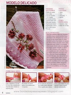 Design made in Ric Rac Flowers • with instructions in 2 parts - see pin marked ❀
