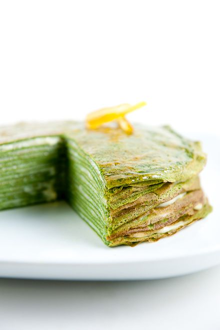 Green tea mille cake - one of my favorites though I sadly don't have the skills of a french crepe man