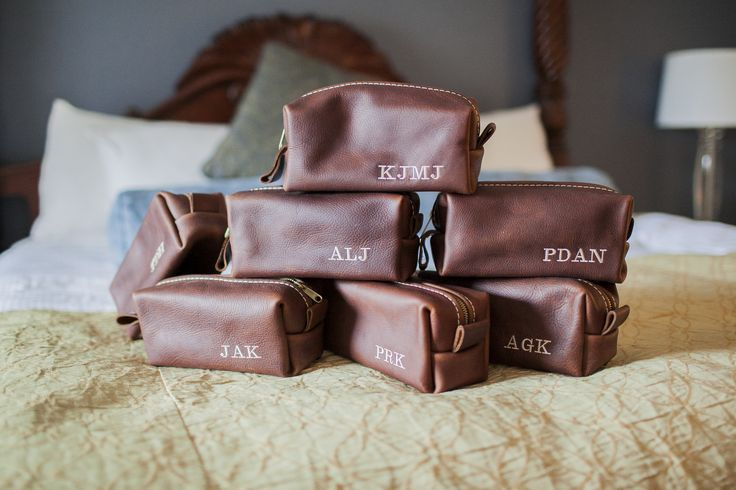 Groomsmen presents- custom shaving kits with initials
