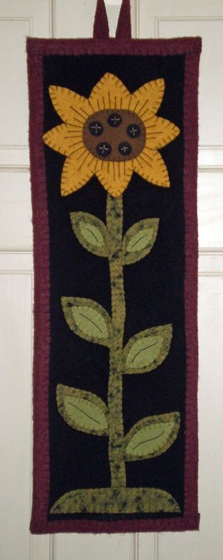 NEW DESIGN ~ PENNY RUG Sunflower Wall Hanging INSTANT DOWNLOAD E PATTERN
