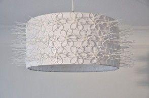 Lampenschirm mit Kabelbindern