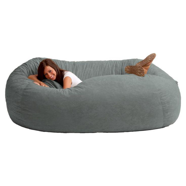 FUF 7 Ft. XXL Comfort Suede Bean Bag Sofa   Cuddle Up In The Original