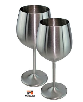 Perfect unbreakable wine glasses! Stainless steel wine glasses with a stem!