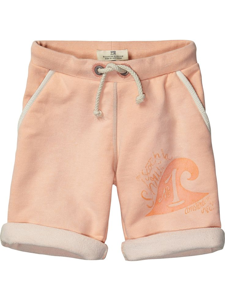 Sweat shorts with patches | Sweat / Jersey Pants | Boys Clothing at Scotch & Soda