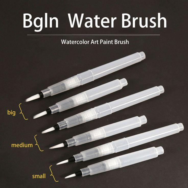 Bgln 6 Unids/set Gran Capacidad de Pincel de Acuarela Pincel De Pintura de Agua Pintura de Nylon Del Pelo Cepillo De la Caligrafía Pluma