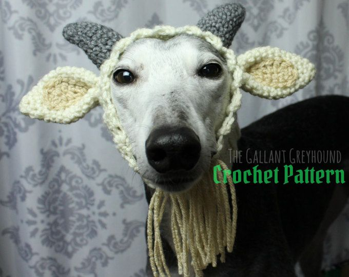 Goat Snood For Dogs Crochet Pattern Pattern Only Rescue Dog