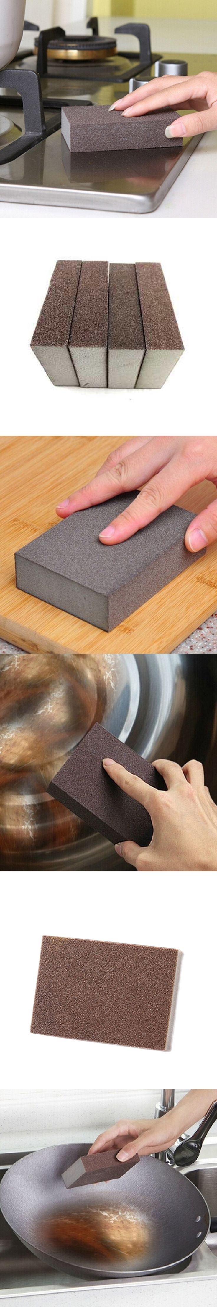 Rectangular Fine Sanding Sponge Block Reusable Wet Dry Blocks Coke Stains Helper