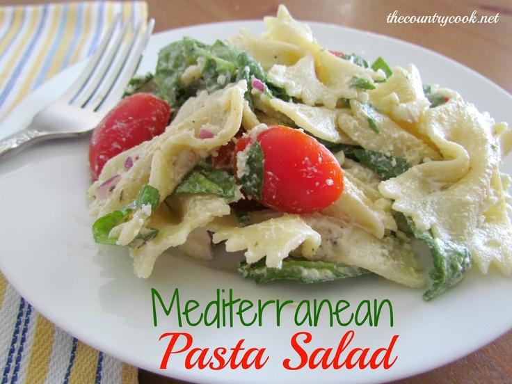 Creamy Mediterranean Pasta Salad | Foodgasms. | Pinterest