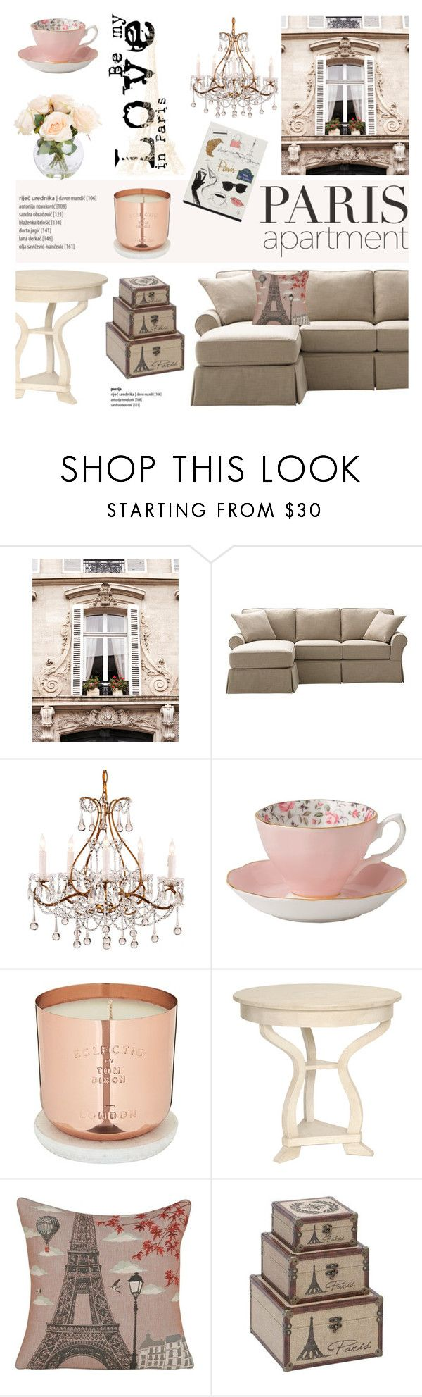 """""""Paris Apartment"""" by helenevlacho ❤ liked on Polyvore featuring interior, interiors, interior design, thuis, home decor, interior decorating, Home Decorators Collection, Royal Albert, Tom Dixon en Yves Delorme"""