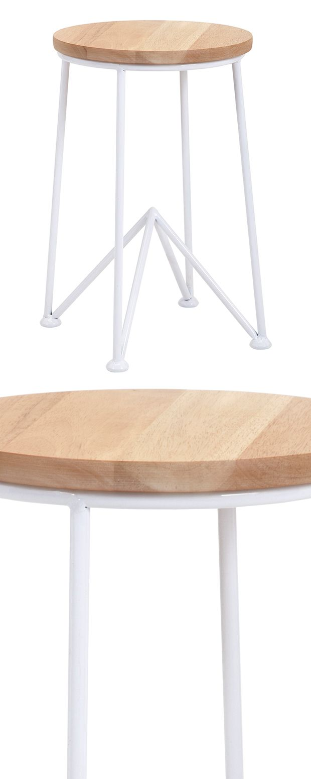 Full speed ahead. Not content to stop at the floor, slim metal legs change trajectory to form a pyramid at the base of our Action Refraction Side Table. The pyramid points toward a blonde wood top, siz...  Find the Action Refraction Side Table, as seen in the Lemony Fresh Farmhouse Collection at http://dotandbo.com/collections/lemony-fresh-farmhouse?utm_source=pinterest&utm_medium=organic&db_sku=120740