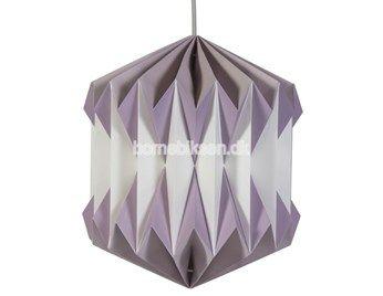 Sebra plisseret papirslampe, pastel lilla