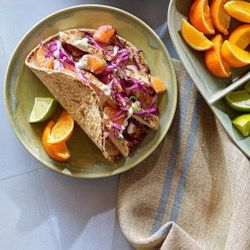 Chicken Tacos with Tangerine-Lime Crema - EatingWell.com