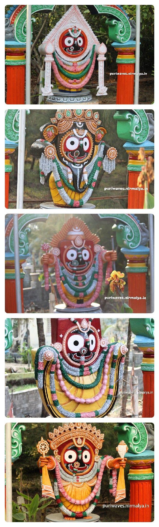 Lord Jagannath Statute at Goura Bihar Ashram, Puri