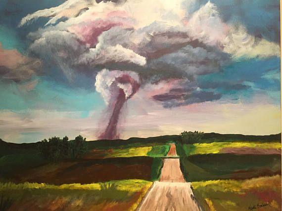 Original Acrylic Painting  Tornado Warning