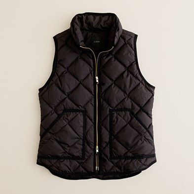 quilted and slimming vest, just wish it came in a green colour...  #vests #jcrew
