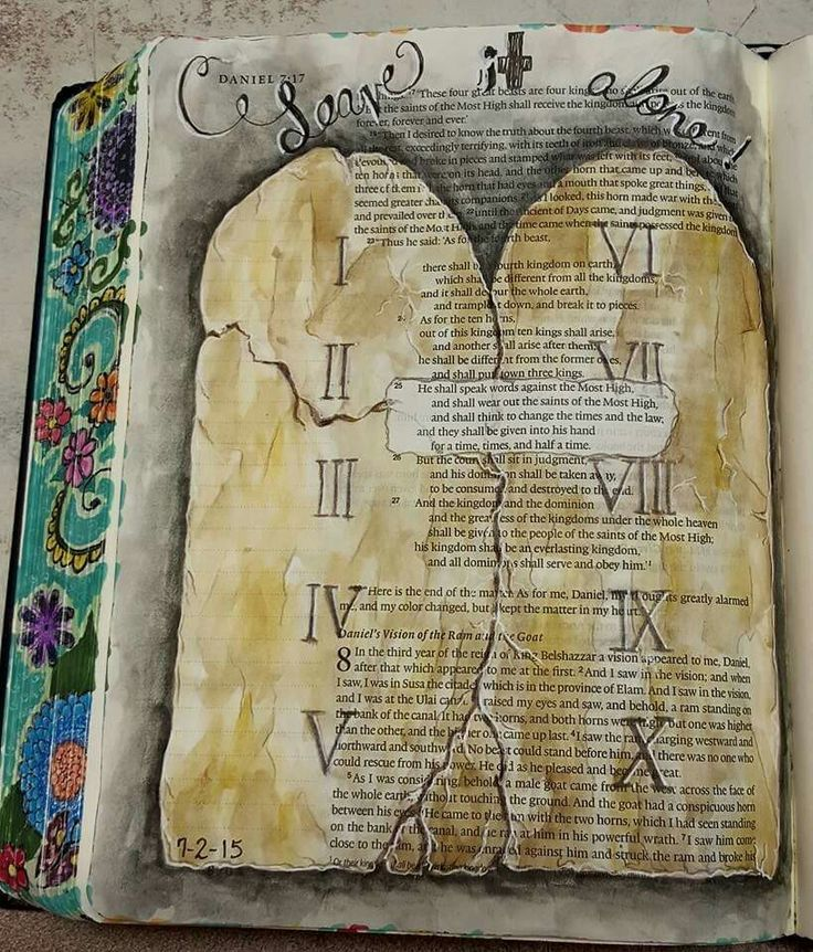 Lovely Bible Journaling.10 Instructions.