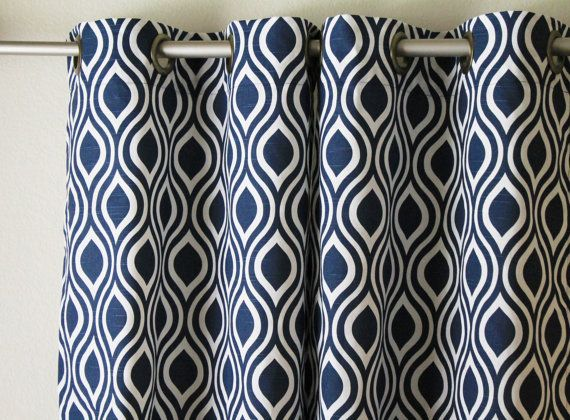 Blue Ombre Window Curtains: Best 25+ Blue And White Curtains Ideas On Pinterest