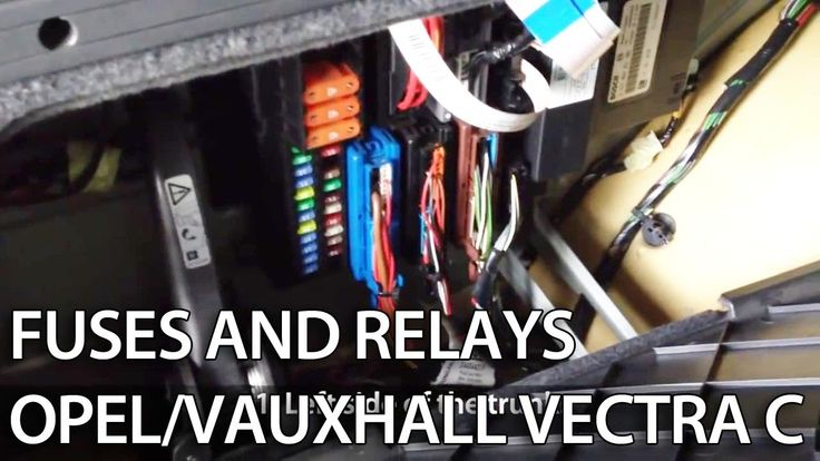 Where are #fuses and #relays in #Opel #Vauxhall #Vectra C #cars #maintenance