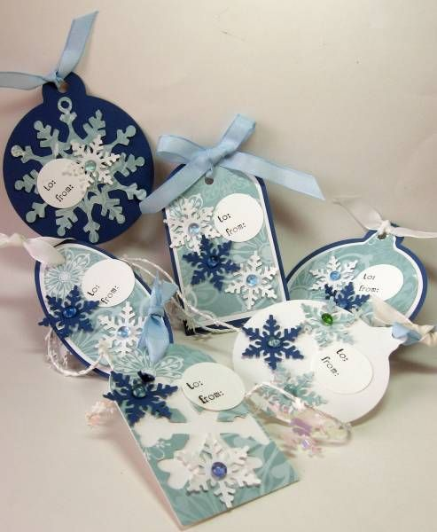 Snowflake tags by lhs43 - Cards and Paper Crafts at Splitcoaststampers