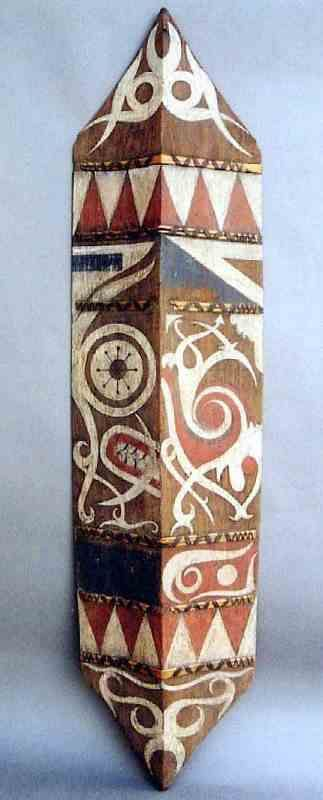 Shield with Asymmetrical Motifs. Dayak, Borneo Island
