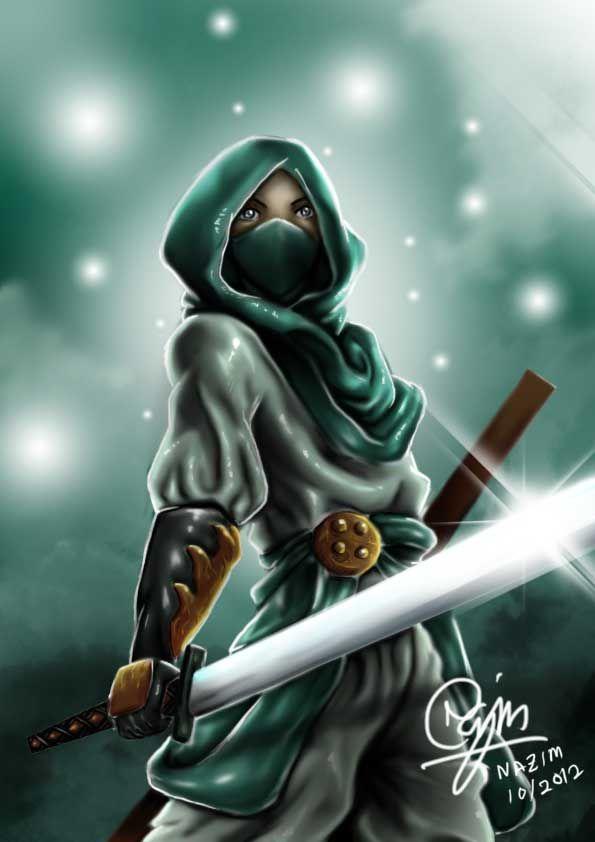 samurai_muslimah_by_nazimzaki-d5gyme1.jpg (595×842)
