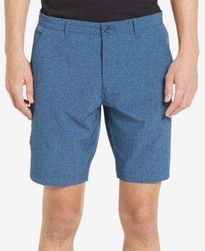 "Calvin Klein Men's 9"" Heathered Tech Shorts - Blue 34"
