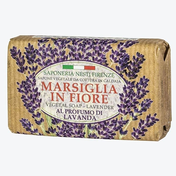 Marsiglia in Fiore vegetable soap with lavender scent from Nesti Dante #NestiDante