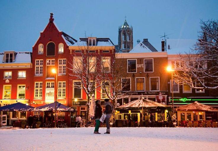 Neude, Utrecht in winter