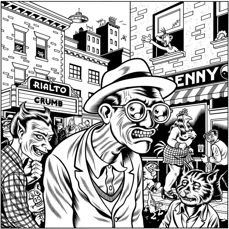 'Crumb Illustration' by Charles Burns, 1995