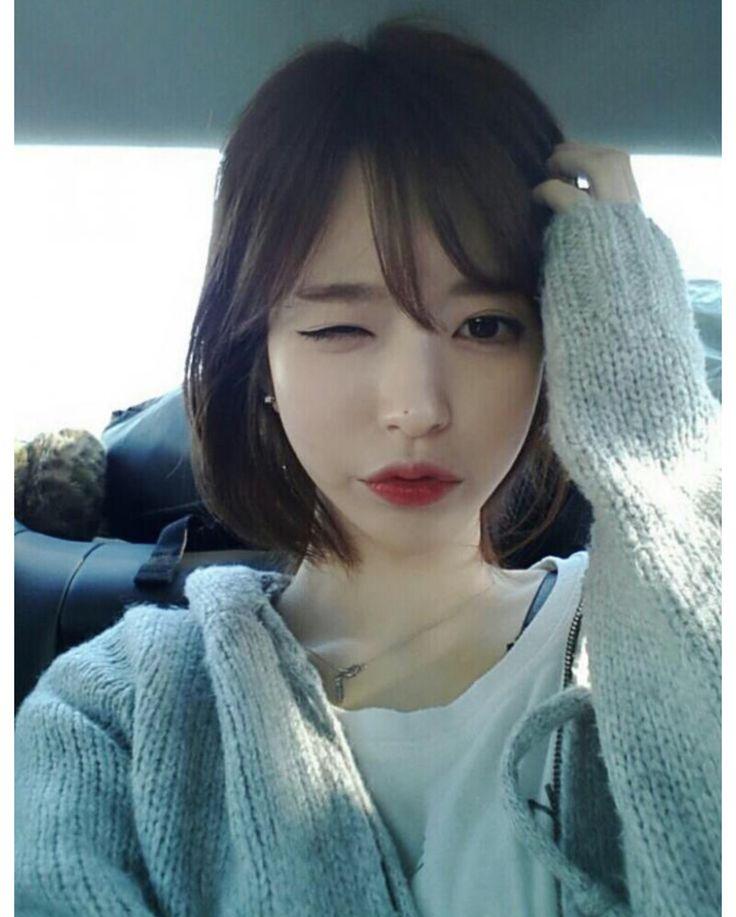 Short Hair With Bangs, Korean
