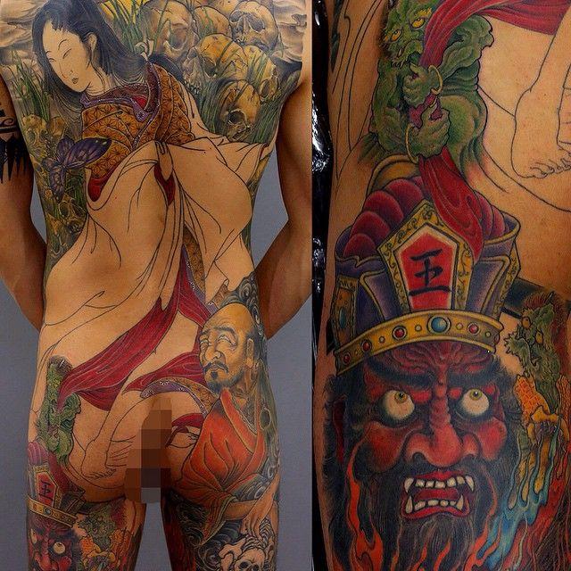 Amazing backpiece by Kenji Shigehara (in progress)