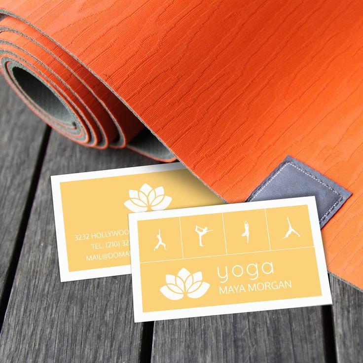 52 best Business Cards for Yoga Teachers, Yoga Studios images on ...