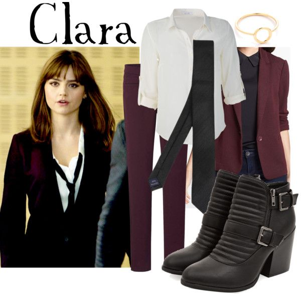 Clara Oswald's outfit from the Doctor Who episode Time Heist was ON. POINT. (by companionclothes on Polyvore)