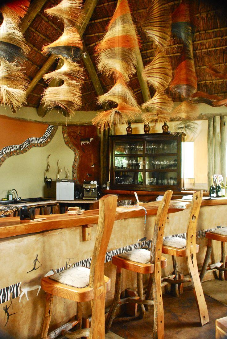 Sibuya Game Reserve Bush Lodge guest bar Kenton on Sea, Eastern Cape, South Africa www.sibuya.co.za