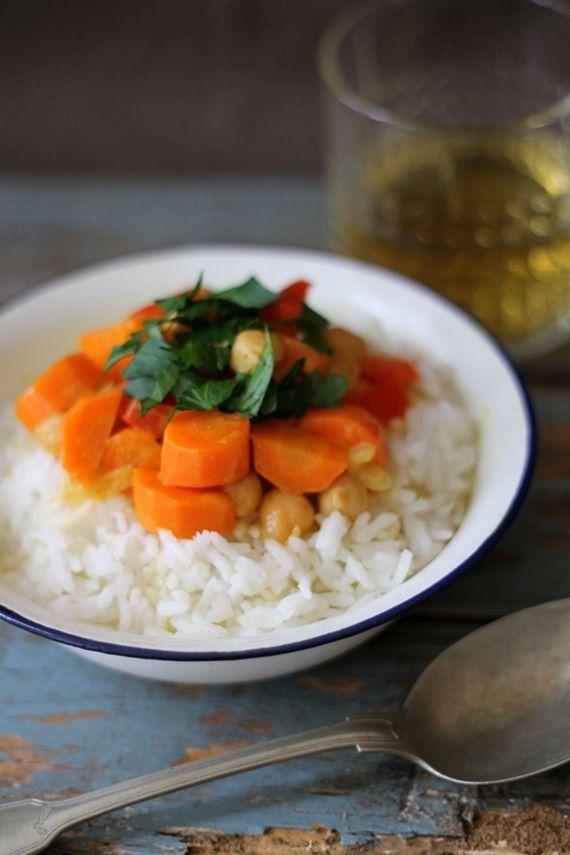 Tinkas Welt: Kirchererbsen-Gemüse-Curry - gesund & vegan